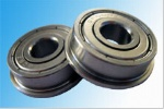Metric chrome steel stainless steel flange bearing F606ZZ 6X17X6mm abec-1 to abec-7 C0 radial clearance
